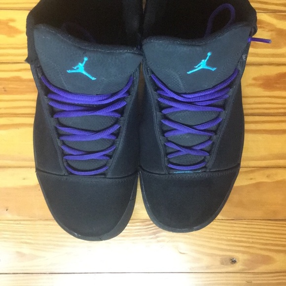 98e08a7eea3 Men's Black & Purple Jordan's. M_5bae5e78951996a6b0613270